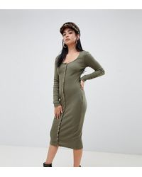 Robe mi longue moulante missguided