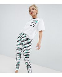 ASOS - Asos Design Petite Koality Time Tee & Legging Pajama Set - Lyst