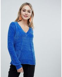 Soaked In Luxury - Chenile V Neck Jumper - Lyst