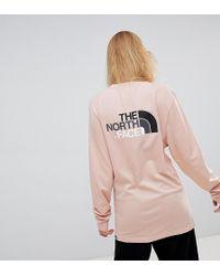 The North Face - Exclusive To Asos Long Sleeve Easy T-shirt In Pink - Lyst