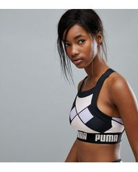 PUMA - Exclusive To Asos Geometric Print Bra Top - Lyst