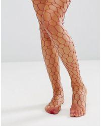 ASOS - Hexagon Fishnet - Lyst