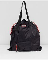 HUNTER - Original Black Packable Tote - Lyst