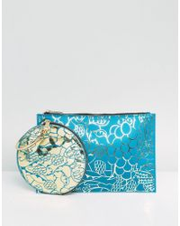 ASOS - Asos X Mary Benson Doubled Up Clutch Bag - Lyst