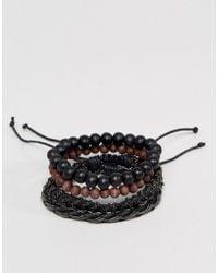 ALDO | Beaded & Chain Bracelets In 4 Pack | Lyst