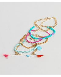 South Beach - Blue Multi Bracelet Pack - Lyst