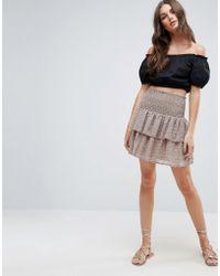 Y.A.S - Poppy Ruffle Layered Skirt - Lyst