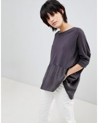 Paisie - Knitted Top With Silk Panel - Lyst