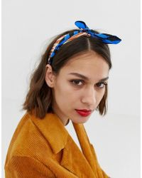Pieces - Mixed Tiger Print Hairscarf - Lyst