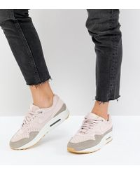 Nike - Air Max 1 Trainers In Perforated Suede - Lyst