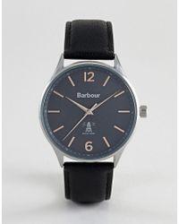 Barbour - Bb079slbk Jesmond Leather Watch In Black - Lyst