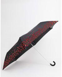 Lulu Guinness - Lulu Guiness Glitter Lip Umbrella - Lyst