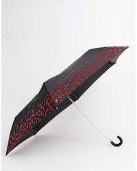 Lulu Guinness Parapluie avec lèvres scintillantes