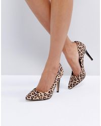 Dune - Allice Leopard Print Pointed Court Shoes - Lyst