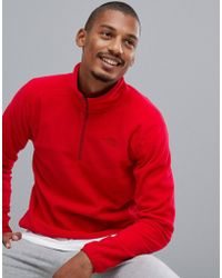 The North Face - 100 Glacier 1/4 Zip Fleece In Red - Lyst