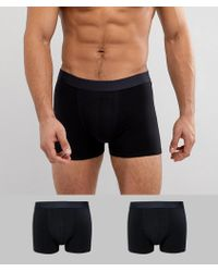 SELECTED - Boxers 2 Pack Black - Lyst