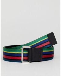 PS by Paul Smith - Webbing Belt In Multi Stripe - Lyst
