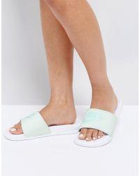 Nike - Pastel Benassi Sliders In Green - Lyst