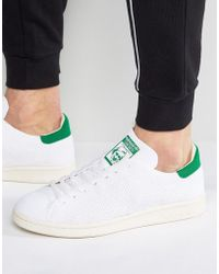 adidas Originals - Stan Smith Og Primeknit Sneakers In White S75146 - Lyst ce2fd3eb8