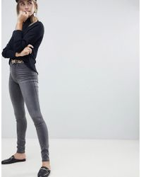 ONLY - High Waisted Skinny Jean In Grey - Lyst