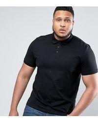 ASOS   Plus Polo Shirt In Black   Lyst