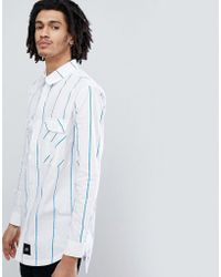 Sixth June - Oversized Shirt With Blue Stripes - Lyst