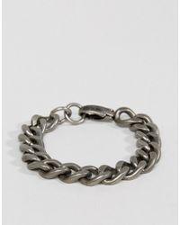 Steve Madden - Curb Chain Bracelet - Lyst