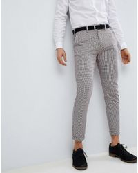 Pull&Bear - Tailored Skinny In Check - Lyst