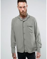 Brooklyn Supply Co. - Revere Collar Shirt With Piping - Lyst