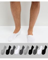 ASOS - Invisible Socks In Monochrome 10 Pack - Lyst