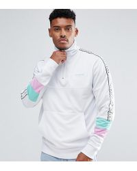 Illusive London - Muscle Track Jacket In White With Half Zip - Lyst