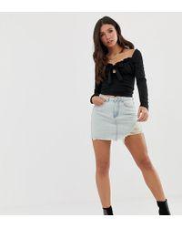 Missguided - Denim Mini Skirt In Lightwash Blue - Lyst