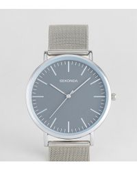 Sekonda Silver Mesh Watch With Gray Dial Exclusive To Asos