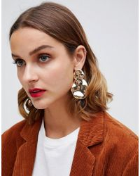 Stradivarius - Gold Plate Earrings - Lyst