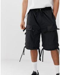 47f667d9c4 Volcom Base Cargo Shorts in Black for Men - Lyst