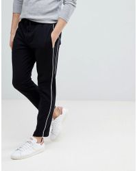 Mango - Man Side Stripe Trousers In Black - Lyst