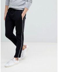 Mango - Man Side Stripe Pants In Black - Lyst