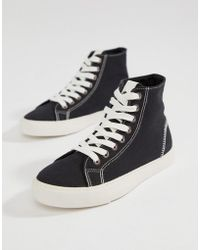 ASOS - District High Top Sneakers - Lyst
