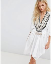 Seafolly - Embroidered Kaftan - Lyst