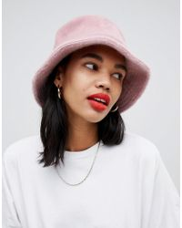 6727458a3750f ASOS Reversible Checkerboard Bucket Hat in Black - Lyst