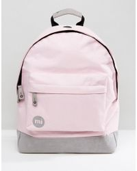 Mi-Pac - Classic Backpack In Blush Pink & Grey - Lyst