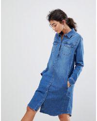 Lee Jeans - Western Denim Dress - Lyst