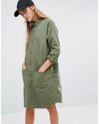 Carhartt WIP - Stone Military Shirt Dress - Lyst