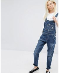 Carhartt WIP - Bib Overall Dungarees With Front Logo - Lyst