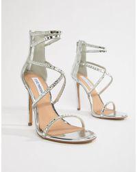 8b879c7d49e3 Steve Madden - Bringit Strappy Heeled Sandals - Lyst