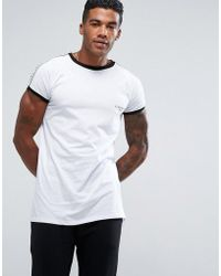 Illusive London - T-shirt In White With Taping - Lyst