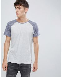 Esprit - Raglan T-shirt With Contrast Sleeve - Lyst