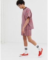 ASOS - Co-ord Shorts In Mini Stripe - Lyst