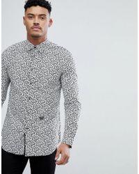 DIESEL - S-duny All Over Print Shirt Black - Lyst
