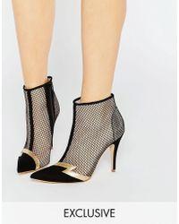 Terry De Havilland - Pixie Black Heeled Ankle Boots - Lyst